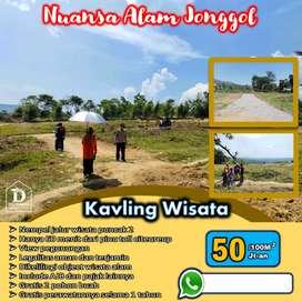 Tanah Nempel Jalan Raya Bogor View Langsung Gunung Progress Cepat