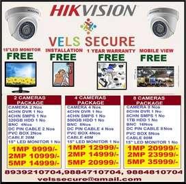 "CCTV CAMERA HIKVISION OFFER SALE  IN AYANAVARAM CHENNAI FREE 15"" LED"