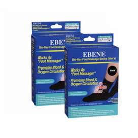 EBENE bio-ray foot massage socks (men's)