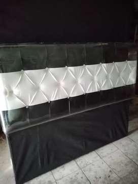Dipan kayu springbed /bawahan/box springbed 160x200
