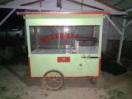 Roda gerobak dan semawar regulator untuk jualan baso, gorengan dll