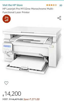 HP Laserjet Pro M132nw Monochrome Multi-Functional Laser Printer