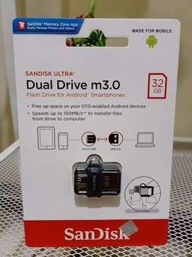 Flashdisk Sandisk OTG 32GB REAL CAPACITY USB 3.0 Garansi Resmi