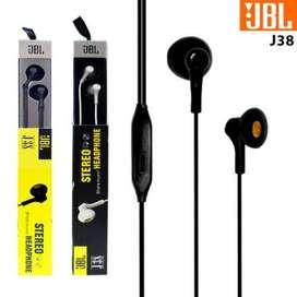 Headset JBL J38 Handsfree JBL J38 Earphone Vocal Stereo Super Bass