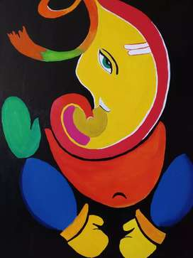 Ganpati wall painting