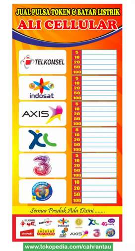 jasa desain banner, x banner, neon box, kartu nama, brosur.