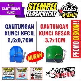 STEMPEL FLASH KILAT / OTOMATIS TINTA (TIPE GANTUNGAN KUNCI)