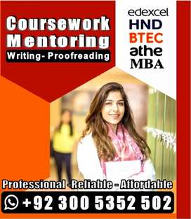 •Btec Edexcel HND MBA |CourseWork Mentoring |THESIS Report PROOFREADIN