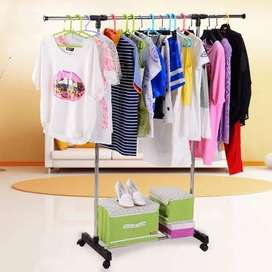 stand hanger standing rak sepatu gantungan baju pakaian jemuran oj-872