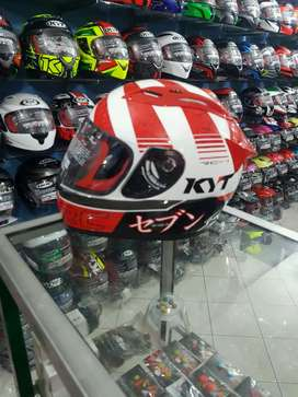 KYT Rc7 Red White New Edition