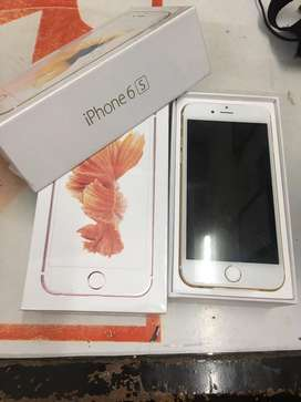 Imported iphone 6s gold color with bill all accessories and warranty
