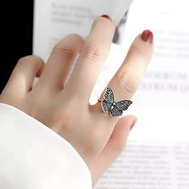 Antique Butterfly  Adjustable Ring