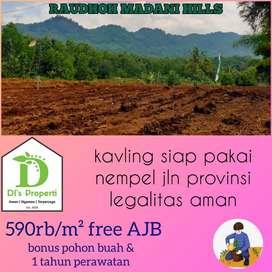Tanah Kavling startegis di Bogor, harga terjangkau, raudhoh madani