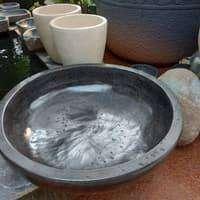 pot teratai hitam glossy diameter 80cm