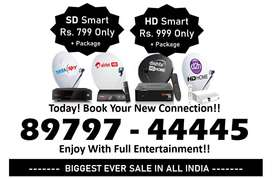 Lowest Price! Tata Sky Dishtv Airteltv- Tatasky HD Smart Box Book Now!