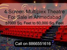 4 Screen Multiplex Theatre for Sale in Ahmedabad   ROI: - 5.5% to 6%