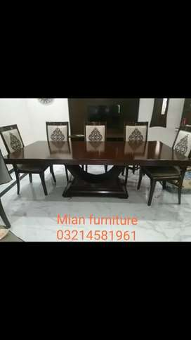 Elegant dining table with 8 chairs code G 03