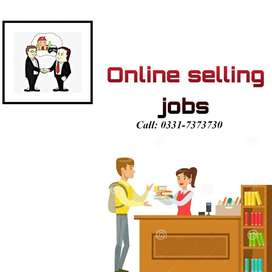 Marketing and Sales Job Selling Company Products online on commission