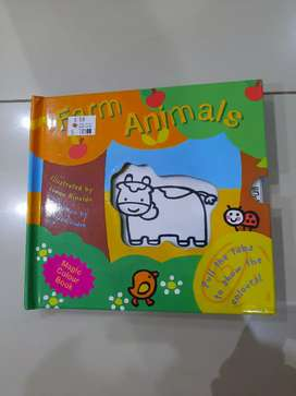 Magic colour book farm animals