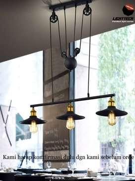 lampu meja makan vintage dekorasi L 578/3L