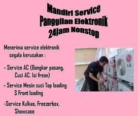 Lokasi service Ac bocor isi Freon Kulkas R22 & Mesin cuci bau sangit