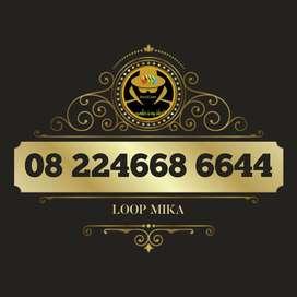 Simpati loop mika cantik kartu perdana telkomsel sakti 4668 aabb 6644