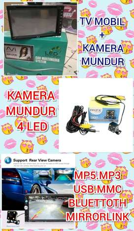 Paket Tv Mobil + Kamera Mundur Cuma 675rb(Mp5.Usb.Mmc.Radio.Bluettoth)
