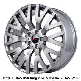 jual velg BRITAIN L145 HSR R20X85 H5X114,3 ET45