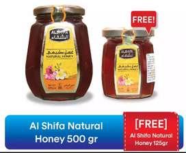 "Madu Arab ""Al Shifa""  Original Kemasan 500gram + Free 125gram"
