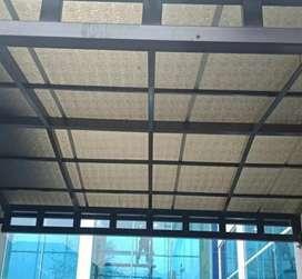 Canopy solarflat embozed dan kanopi kaca #2307