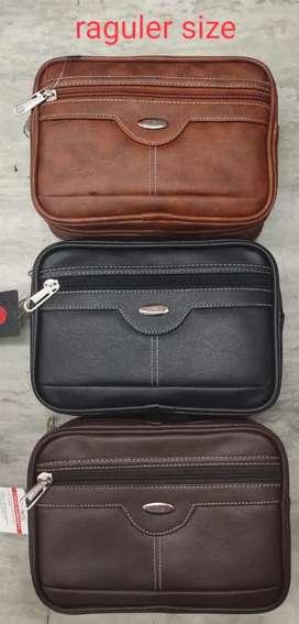 Leather look handbag