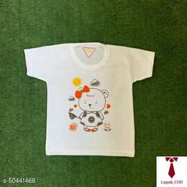 Kaos Oblong Bayi Anak  Print Cute Bear Sunflower-White