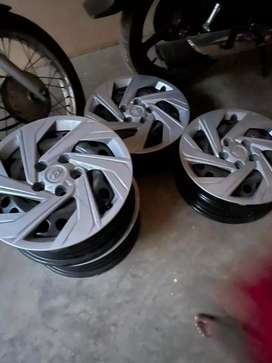 16 inches 4 set steel rim with cover for car brand new