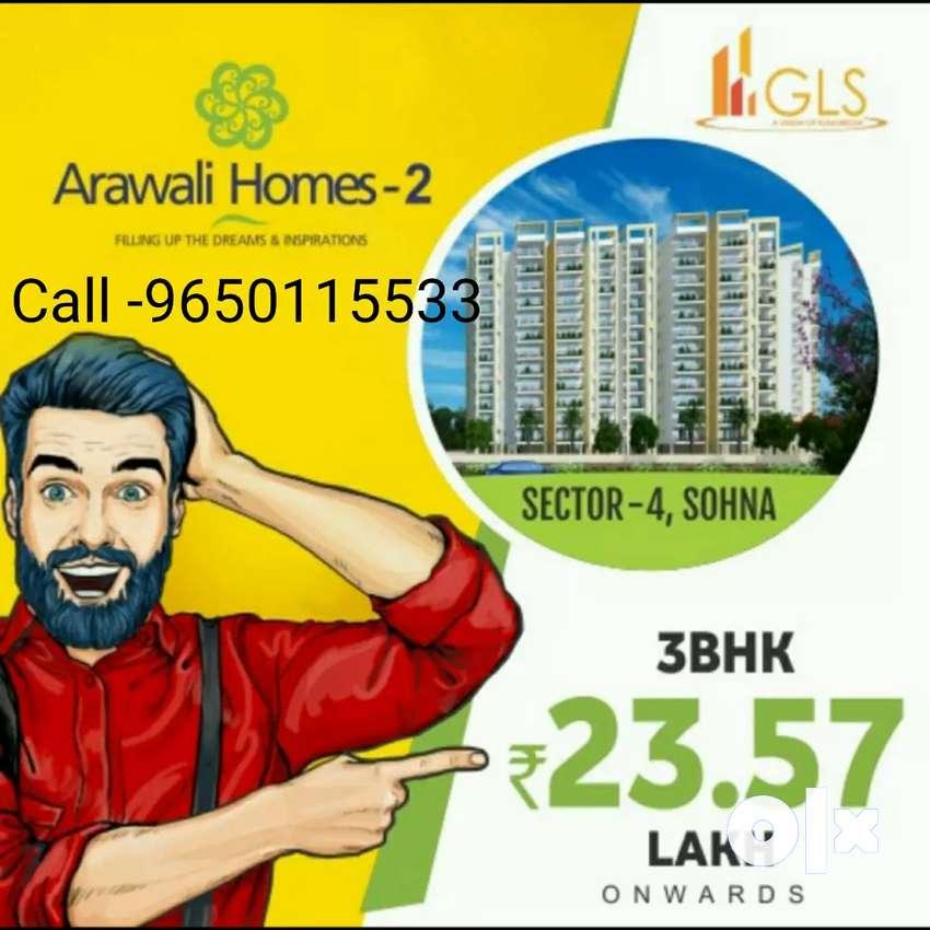 3 BHK @'23.65 lac only.gurgaon Delhi Mumbai highway 0