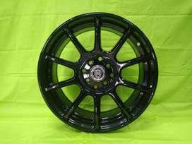 velg murah 2755 HSR R16X7 H8X100-114,3 ET40 BLACK