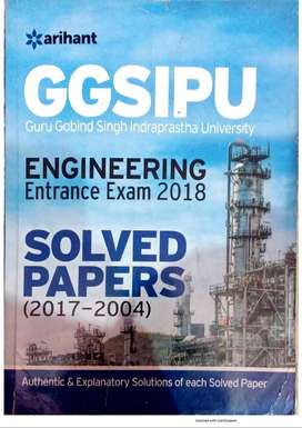 GGSIPU ENGINEERING ENTRANCE EXAM SOLVED PAPERS