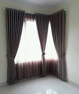 242 minimalis smokering tirai gorden hordeng wallpaper murah