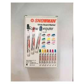 COD Spidol Papan Tulis SNOWMAN Bisa dihapus Whiteboard White Board