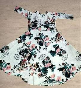 Printed Rayon Dress low price