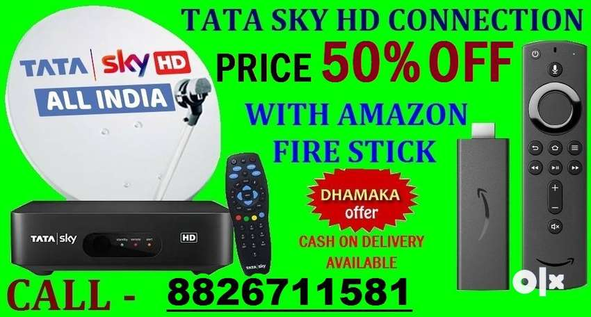 DHAMAKA OFFER TATA SKY NEW HD CONNECTION WITH AMAZON FIRE STICK Rs.999 0