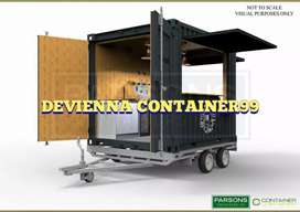 Container booth roda coffeshop container custom food cage bar kekinian