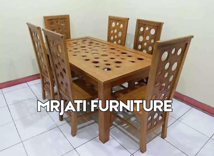 Kursi ( meja ) satu set full Jati 01. 0