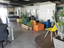 Furnish office available 500 sqft In Rs, 1,25000/-
