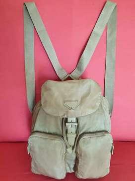 Tas import eks PRADA milano made in Italy ad no seri backpack nylon