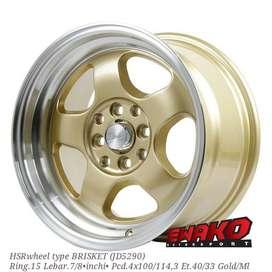 Brisket R15 - HSRwheel Makassar Velg Mobil Racing Import