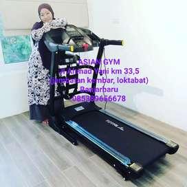 Ready alat fitness treadmill listrik auto incline dilengkapi fitur