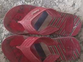Slipper in red color