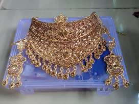 Sparkling Golden Plated Wedding Jewellery