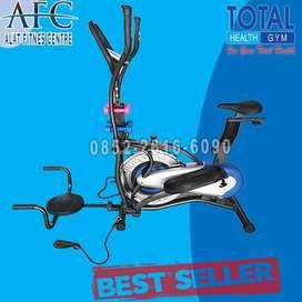 Sepeda Fitnes Orbitrack Plat 6 Fungsi - Alat Olahraga - Total
