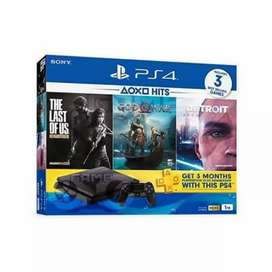 SONY PS4 SLIM 1TB HITS BUNDLE NEW GARANSI RESMI SONY INDONESIA